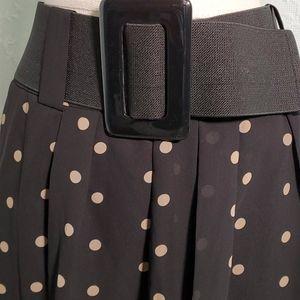 Worthington skirt, 14. Black W/ neutral dots.